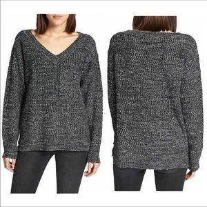 Sanctuary Amare Marled V- Neck Sweater Size S